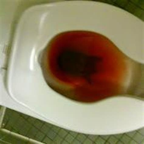 i alot of bright blood in toilet when