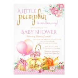 pumpkin fall baby shower invitations zazzle
