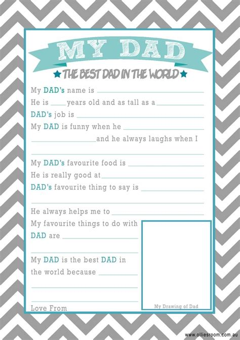 printable dad questionnaire ollie s room free father s day printables father s day