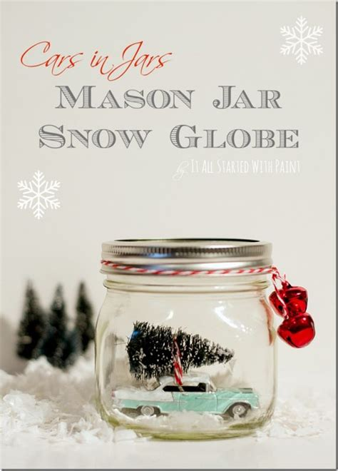 these bright snow globe tattoos 21 festively jar crafts for the holidays