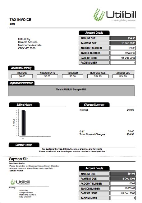 fake utility bill template choice image templates design