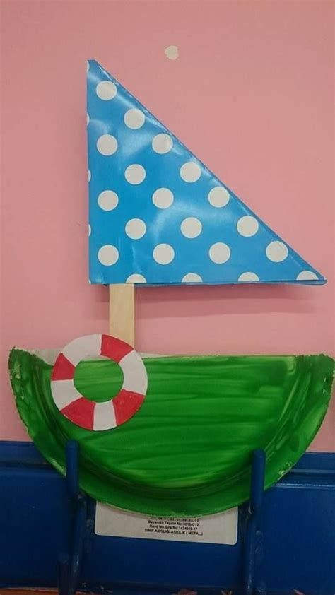 boat shapes craft paper plate sailboat craft manualidades lecturas