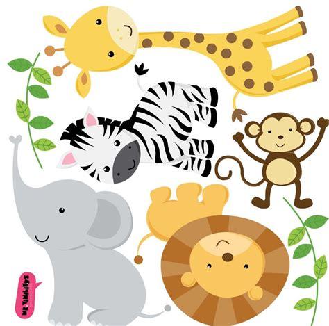 imagenes animales salvajes infantiles vinilo decorativo kit animales de la selva tarjetas de