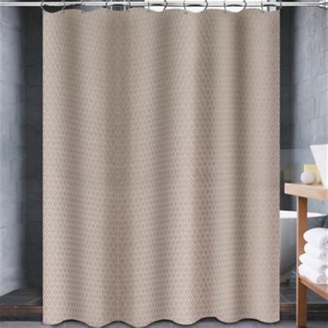 taupe shower curtain buy white taupe shower curtains from bed bath beyond
