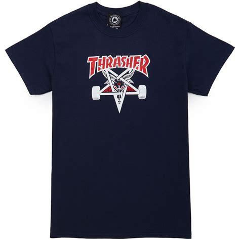 Tshirt Twotone Fade thrasher two tone skategoat t shirt navy