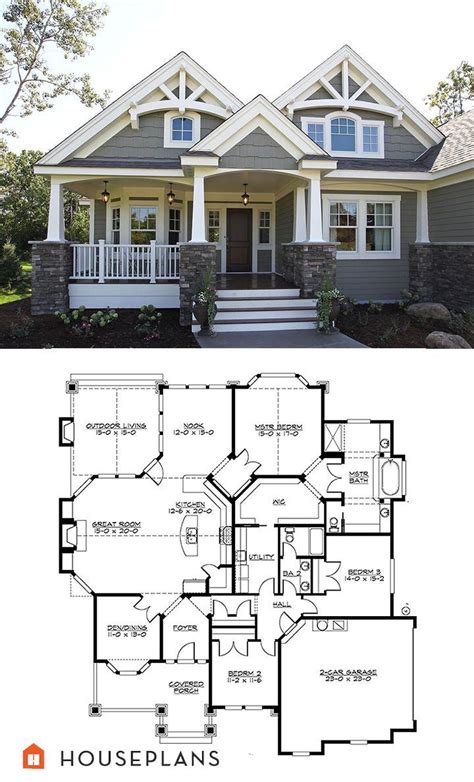 bungalow craftsman house plans 60 best bungalow style images on pinterest house floor