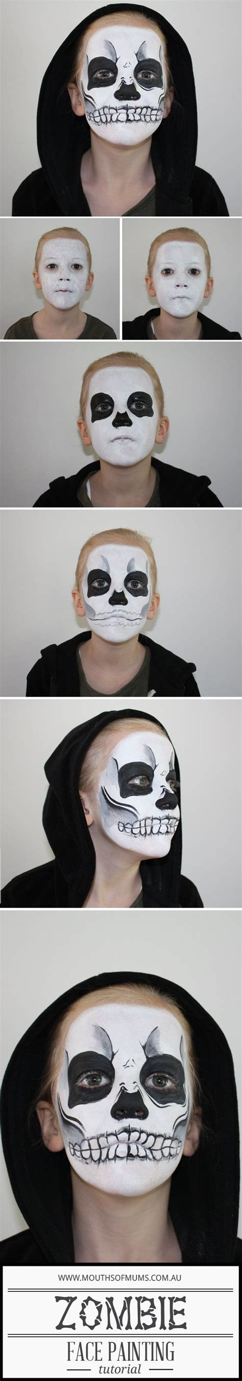 zombie painting tutorial 25 super cool step by step makeup tutorials for halloween