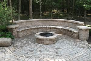 Built In Firepit Pits Are And Reder Landscaping Landscape Design Lawn Care