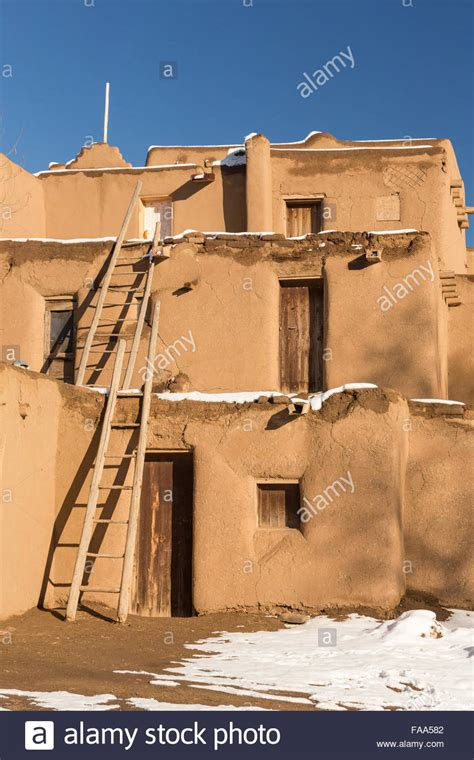 Adobe Pueblo Houses by Ancient Adobe Homes In The Ancient Native American Taos