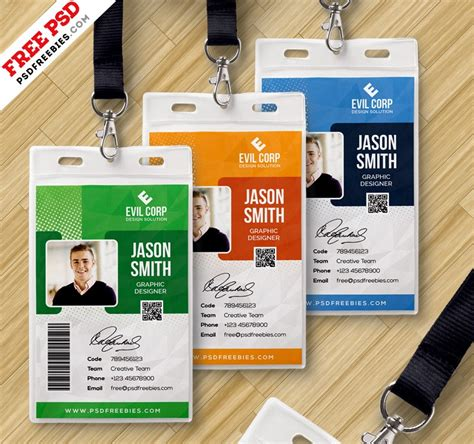 Press Id Card Template Psd by Corporate Identity Card Template Psd Psd