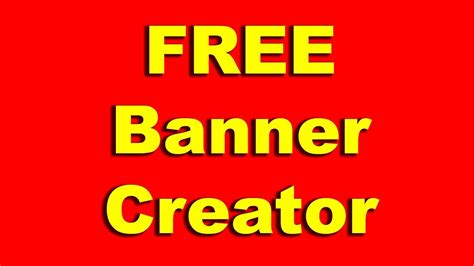 create printable banner online free how to create a free ad banner banner generator youtube