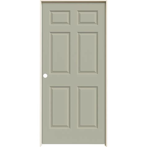 Jeld Wen Prehung Interior Doors Jeld Wen 36 In X 80 In Molded Smooth 6 Panel Desert Sand Hollow Composite Single Prehung
