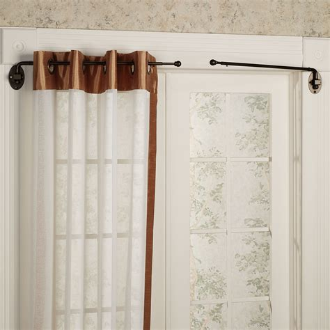 curtain swing rod swing arm rods for curtains pair of twisted iron swing