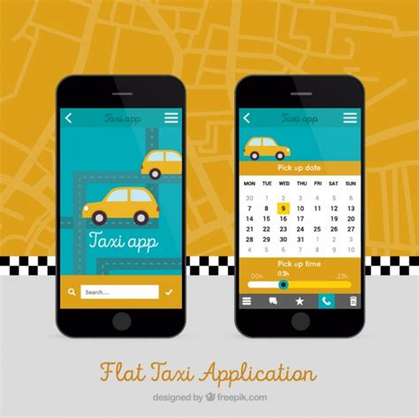 gratis mobile mobile app for taxis vector free