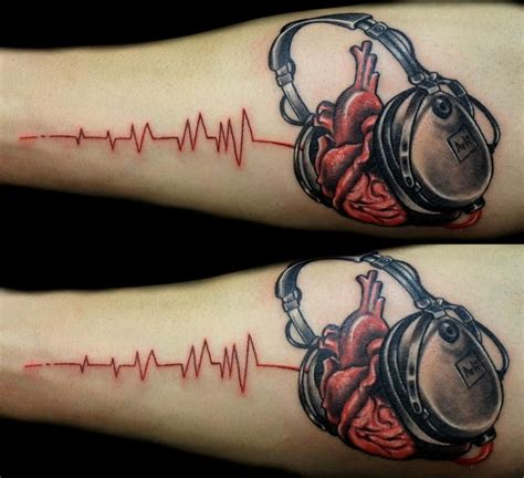headphone tattoo designs headphone search inked and pierced