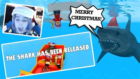 newest kid fish for christmas shark roblox day shark bite