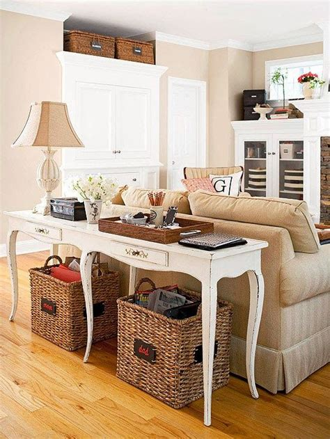 behind sofa table storage behind couch table with storage baskets home 2014
