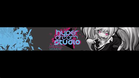 hyperdreamstudio youtube anime banner by chixuu on