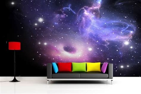 galaxy bedroom wallpaper bright galaxy wallpaper wall mural galaxies design and