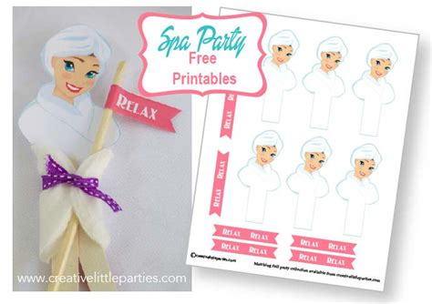 printable spa party decorations let s have a spa party part 2 free placemat and nail
