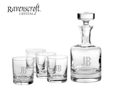 engraved buckingham whiskey decanter set personalized