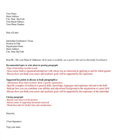 Letter Of Intent Sle Undergraduate Sle Internship Letter Of Intent 5 Documents In Pdf