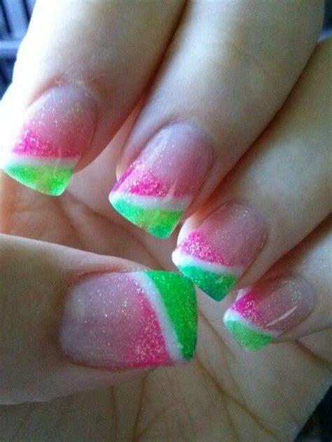 Pink And Green Nail Designs
