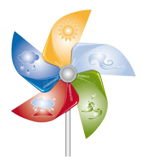 renewable energy stock illustration image of concept
