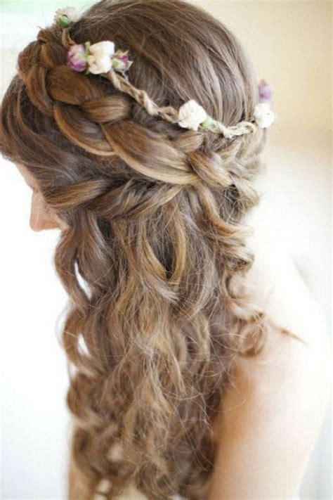 Hochzeitsfrisur Offen Blumen by Hochzeitsfrisur Lange Haare Blumen Offen Romantisch