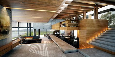 wood interior design modern wood and concrete interior interior design ideas
