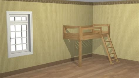 How To Build A Loft Bunk Bed How To Build A Loft Bed With Pictures Wikihow