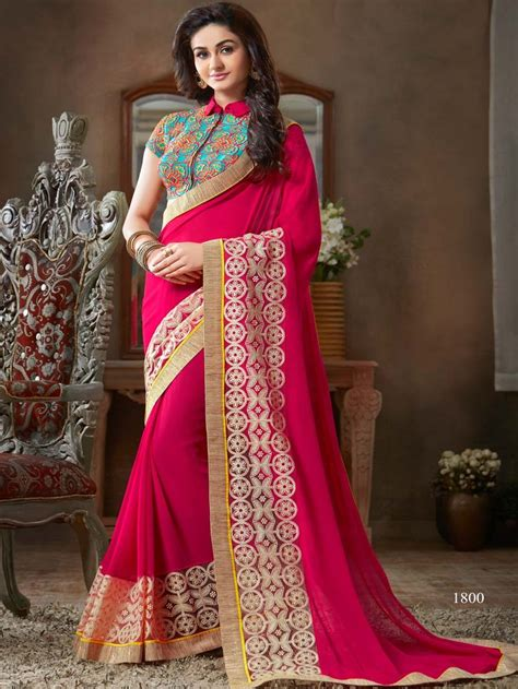 which colour blouse suits for pink saree sarees online pink color embroidered designer saree blouse
