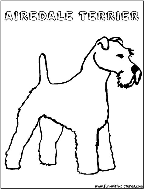 Airedale Free Colouring Pages Terrier Coloring Pages