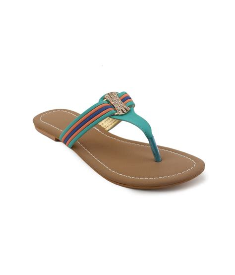 turquoise flat sandals shezone turquoise suede daily wear flat sandals price in