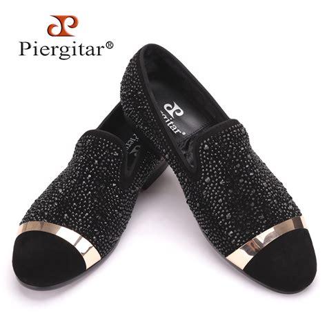 Handmade Diamonds - piergitar handmade black diamonds s suede loafer