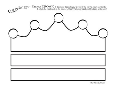 printable crown free printable cut out crown coloring page mardi gras