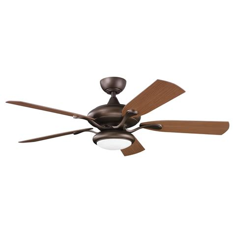 kichler outdoor ceiling fans kichler lighting 310127wcp aldrin patio 52 quot transitional