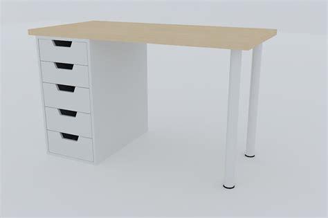 ikea desk models desk ikea vika amon 3d model