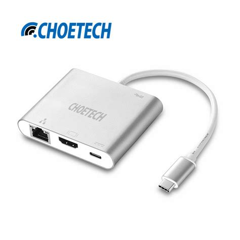 Usb Type C Hub To Hdmi Adapter Macbook Pro 7 In 1 usb c multiport adapter choe type c hub to hdmi adapter with ethernet usb 3 0 support