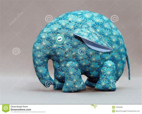 Elephant Handmade - handmade blue elephant royalty free stock photos image