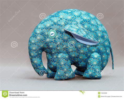 Handmade Elephant - handmade blue elephant royalty free stock photos image