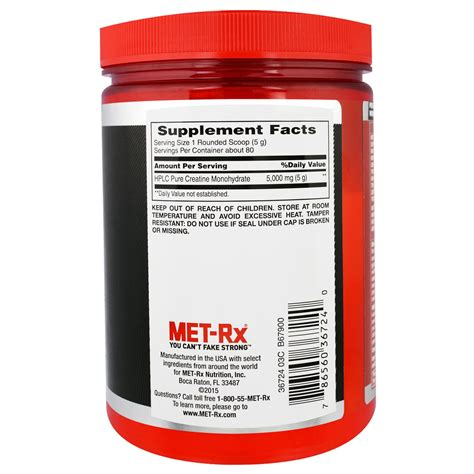 met rx creatine met rx creatine mononhydrate unflavored 14 1 oz 400 g