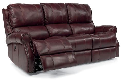 leather sofas with recliners flexsteel miles leather reclining sofa 153362p41862