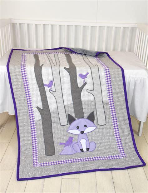 fox baby bedding woodland blanket birch tree crib quilt personalized fox