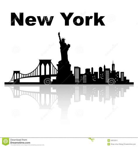 new york skyline stock vector image 42612511