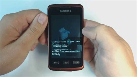 reset samsung xcover 3 samsung galaxy xcover s5690 factory reset youtube