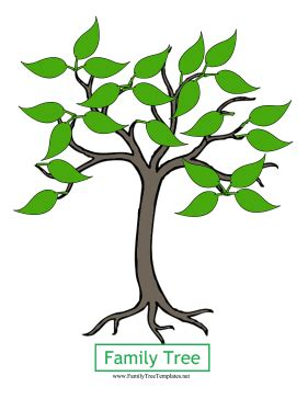 Family Tree Template Family Tree Template Leaves Tree Template With Leaves