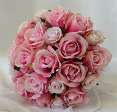 Wedding Bouquet Ebay by Silk Wedding Bouquet Bouquets Flower Pink Posy Ebay
