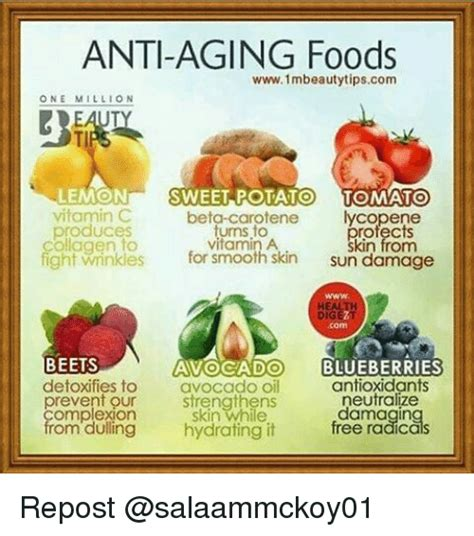 Do Antioxidants Help With The Prevention Against Aging by Anti Aging Foods Www1mbeautytipscom One Million Lemon
