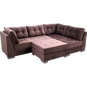 sofa de sof 225 de canto 3 e 3 lugares puff novo mundo 193 gata